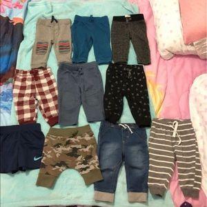 Baby boy jogger/shorts lot